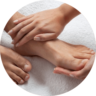 Waxing Men's Feet