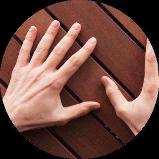 Waxing Men's Hands